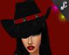 black pvc cowboy hat