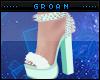 A| Mint Fur Heels