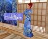 TK-Womens Blue Kimono