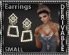 SquareDiamon Earrings Sm