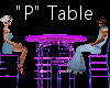 """""""P"""" Club Table for 4"""