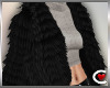 *SC-Fur Coat Blk Layrbl