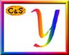 C&S Rainbow Letter Y