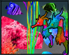 Neon Sea Horses