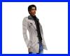 chaqueta gris claro