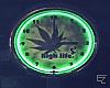 ϟ Weed Neon Clock