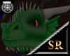 Green pet dragon