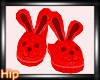 [HB] Bunny Slippers  Red