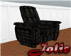 JF BlackLeather Recliner