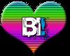 Bi Rainbow Heart