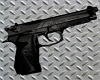 Black SS Beretta Pistol