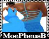 Slim Elec Blue Lace Gown