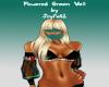 Flowered Green Veil