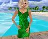 PP|Green Foilage Dress