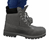 Gray Lace Work Boots M
