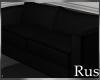 Rus Black Loveseat