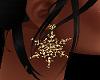 Golden Snowflake earing