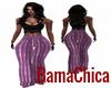 [bp] Satin Purple Pants