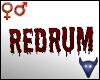 Redrum head sign (m/f)