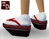 Black red and white Geta