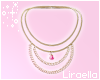 Rose Pearl Gold Necklace