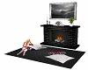 Black fireplace set