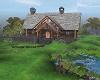 Country Log Cabin & Lake