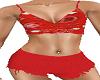 Red Bandana Shorts Set