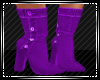 Purple Denim Boots
