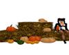 Hay Bale with Pumpkins
