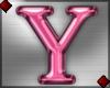 Pink Letter Y