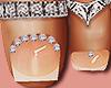 Feet Silver Rings Peachy