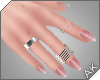 ~AK~ Nude + Silver Rings
