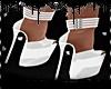 🎀 White Heels