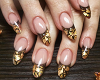 Gold French nails & Ring