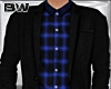Black Blue Plaid Suit