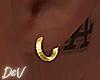!D Gold Hoop Earrings