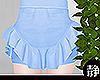 ☁ Frill Skirt l Blue