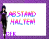 [DFK]ABSTAND Sign