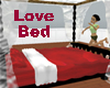 Valentine Red Love Bed