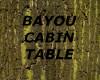 [LD[ BAYOU CABIN TABLE