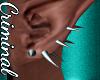 Silver Ear Spikes