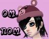 J6-Omnom Hat!Pink!