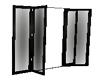 Open Patio Doors Black