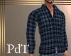 PdT Gray Plaid Shirt M