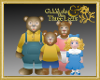 Goldilocks+3 Bears Badge