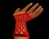 ~C R fishnet gloves