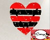 Red & Blk V-Day Heart