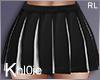 K blackwhite cheer skirt