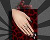~Sera~Black Silver Nails